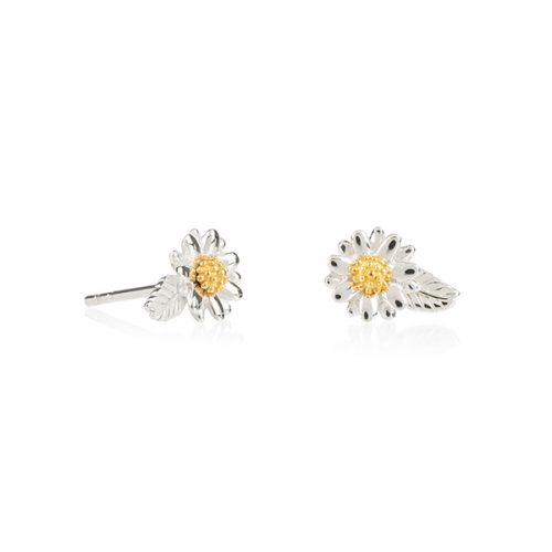 b92176cdd3fc37 Daisy London – English Daisy & Leaf Stud Earrings, Daisy London