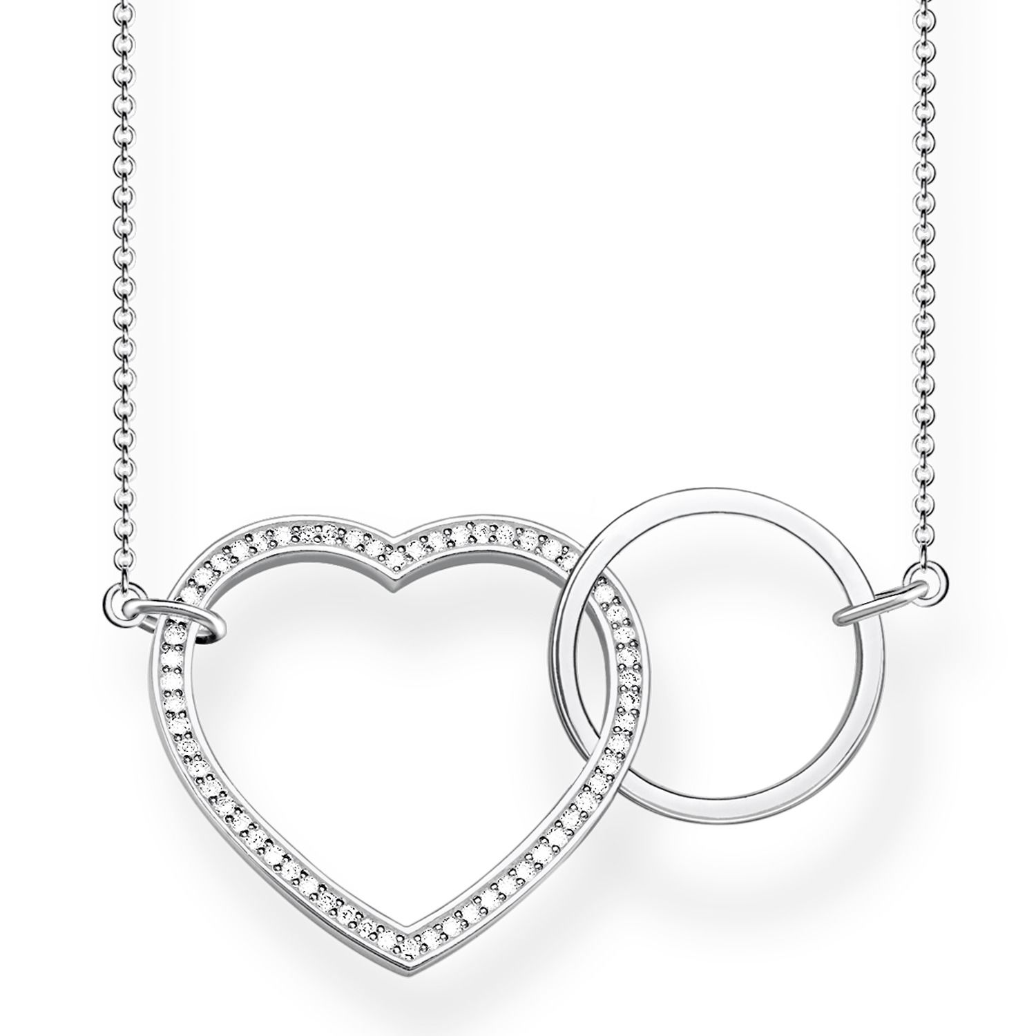 17e49faad Thomas Sabo – Glam & Soul Together Heart Sterling Silver Necklace Large