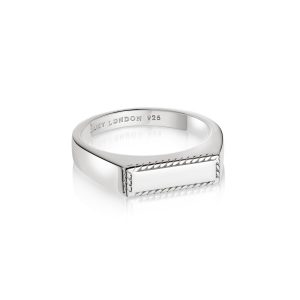 Daisy London – Stacked Rope Signet Ring