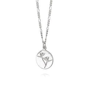 Daisy London – Bird of Paradise Necklace Silver