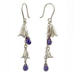 Alex Monroe – Lolite Bluebell Drop Earrings