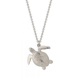 Alex Monroe – Sea Turtle Necklace Silver