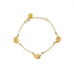 Alex Monroe – Three Feather Bracelet Gold