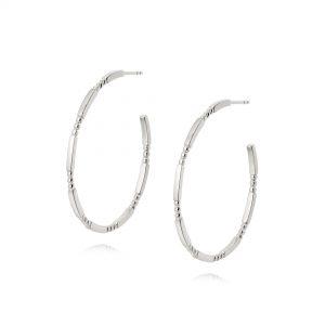 Daisy London – Thin Stacked Hoops – Silver