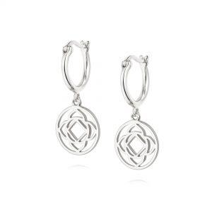 Daisy London – Base Chakra Drop Earrings – Silver