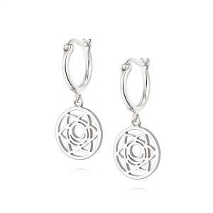 Daisy London – Sacral Chakra Drop Earrings – Silver