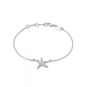 Daisy London – Starfish Chain Bracelet – Silver