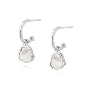 Daisy London – Mother of Pearl Drop Earrings – Silver