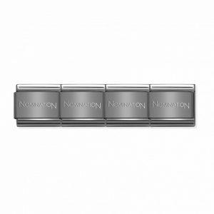 Nomination – Black Stainless Steel Plain Bracelet