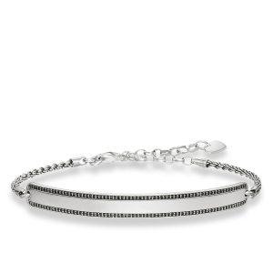Thomas Sabo – Love Bridge Black Pave Bracelet