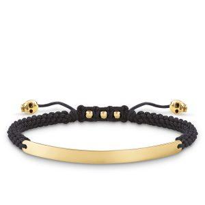 Thomas Sabo – Love Bridge Black & Gold Skull Bracelet