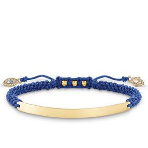 Thomas Sabo – Love Bridge Blue Nazars Eye Bracelet Gold