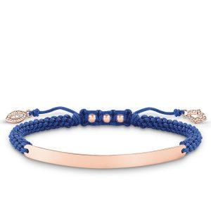 Thomas Sabo – Love Bridge Blue Nazars Eye Bracelet Rose Gold