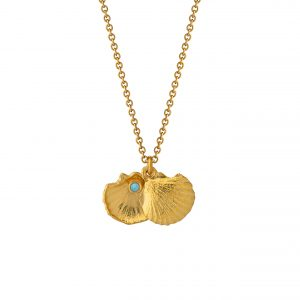 Alex Monroe – Open Shell & Opal Necklace Gold