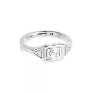 Daisy London – Artisan Stamped Ring – Silver