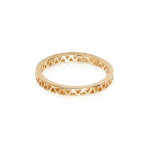 Daisy London – Artisan Stamped Stacking Ring – Gold