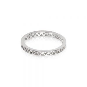 Daisy London – Artisan Stamped Stacking Ring – Silver