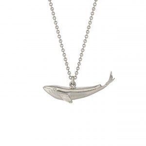 Alex Monroe – Baby Blue Whale Necklace Silver