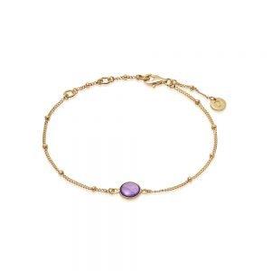 Daisy London – Amethyst Healing Bracelet – Gold