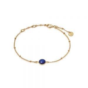 Daisy London – Lapis Healing Bracelet – Gold